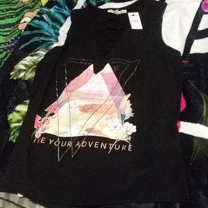 New sleeveless motivational t-shirt